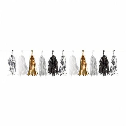 Girlanda Golden Wishes třásně 3m