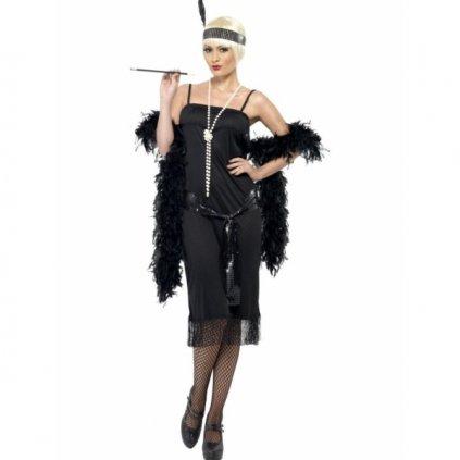 Kostým pro dámy ve stylu 20. let černý Velikost S