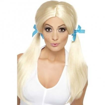 Paruka v blond odstínu styl Školačka