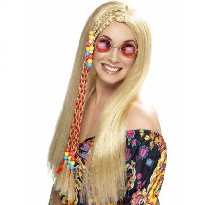 Paruka v blond odstínu styl Hippies