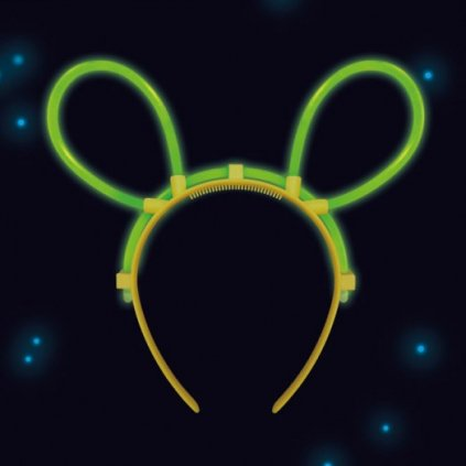 Čelenka s ušima s neonovým efektem