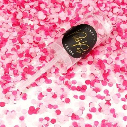 Konfety Push-Pop mix růžový  8mm