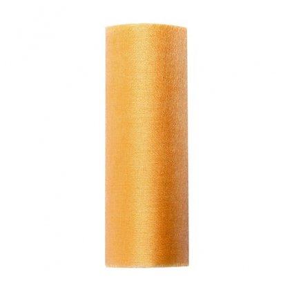 Organza 16cm/9m zlatá