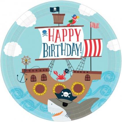 Talíře dětské námořnické Ahoy! 8ks