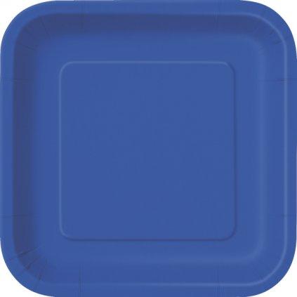Talíře papírové Royal Blue čtvercové 23x23cm 14ks