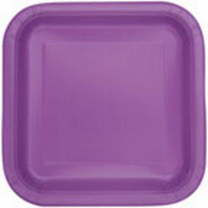 Talíře čtvercové velké  Pretty purple