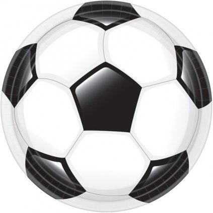 TALÍŘE papírové Fotbal 23cm