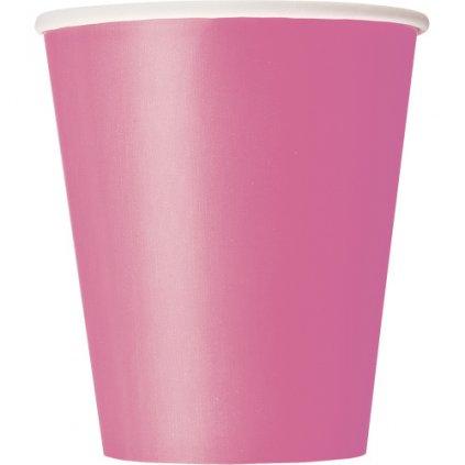 Kelímky papírové Hot Pink 270ml 14ks