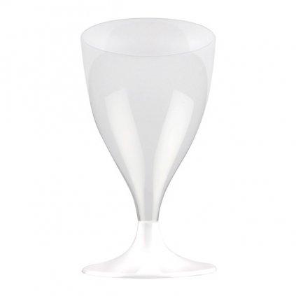 Skleničky na víno plastové 20cl 10ks