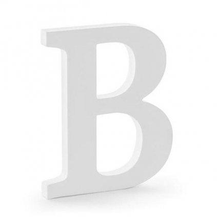 """Písmenko stojací dřevěné 20cm """"B"""" 1ks"""