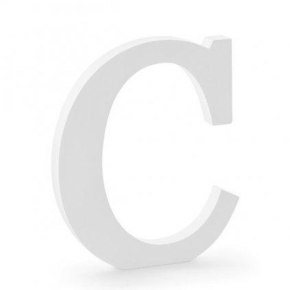 """Písmenko stojací dřevěné 20cm """"C"""" 1ks"""