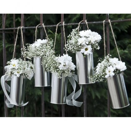 Plechovky dekorační stříbrné 5ks