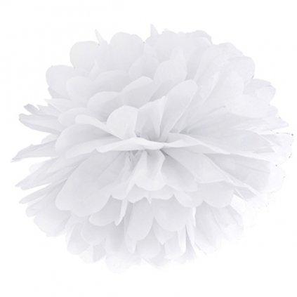 Pompom bílá barva vel. 35cm