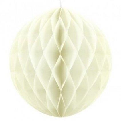 """Koule dekorační """"Honeycomb"""" krémová vel. 30cm"""