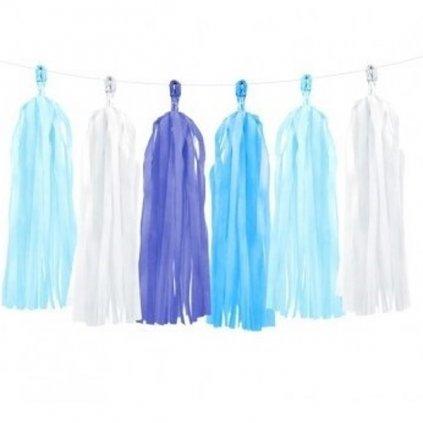 Girlanda modré třásně 150cm
