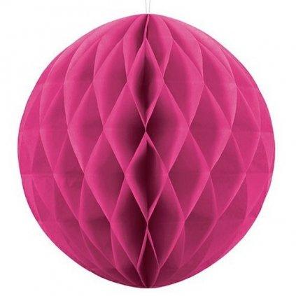 """Koule dekorační """" Honeycomb"""" magenta vel. 30cm"""