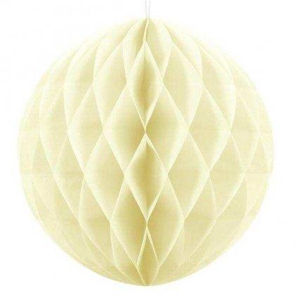 """Koule dekorační """"Honeycomb"""" krémová vel. 40cm"""