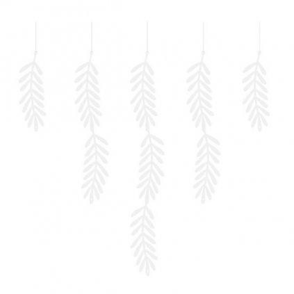 Girlanda bílé větvičky 180cm