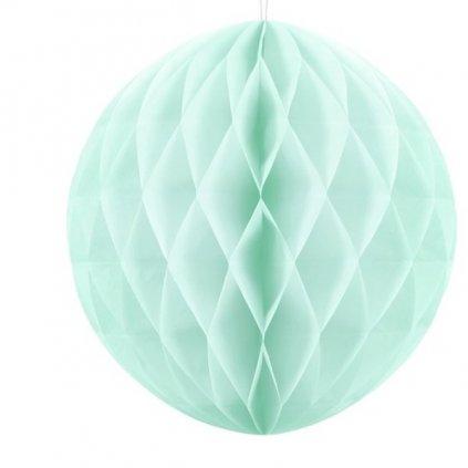 """Koule dekorační """"Honeycomb"""" mátová vel. 30cm"""