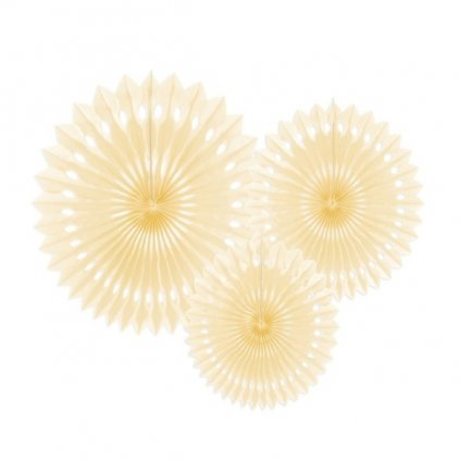 Rozety jednobarevné sv. krém 3ks
