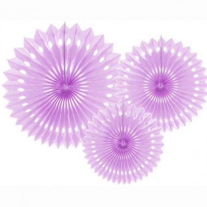 Rozety jednobarevné lila 3 ks