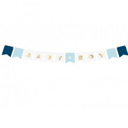 Banner Baby Boy bílomodrý 160cm