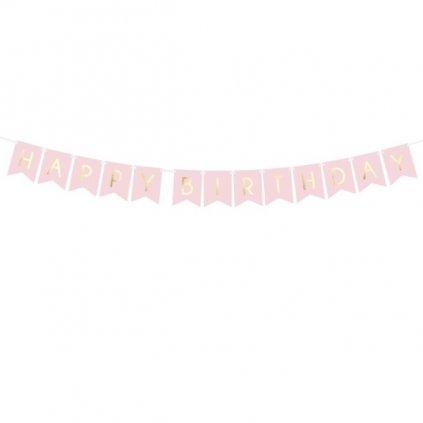 Banner praporkový HB světle růžová 1,75m