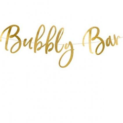 Banner Bublinkový bar zlatý 83cm