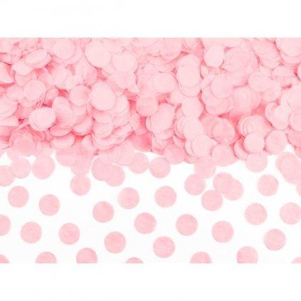 Konfety kolečka sv.růžová 15g