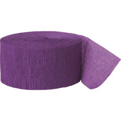 Serpentýna z krepového papíru fialová
