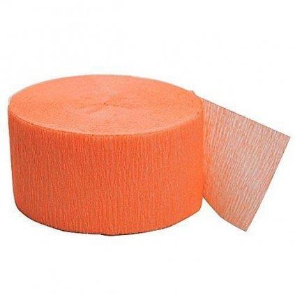 Serpentýna z krepového papíru  sv. oranžová