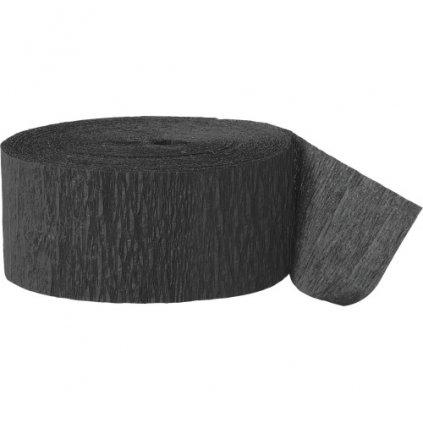 Serpentýna z krepového papíru  černá