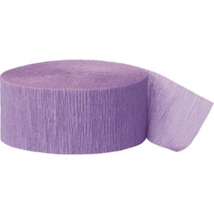 Serpentýna z krepového papíru  lila