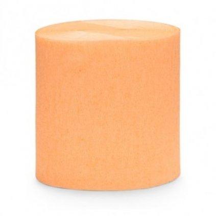 SERPENTÝNA krepová světle oranžová