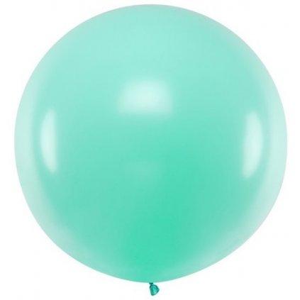 Balon latexový pastelový sv. mint 60cm 1ks