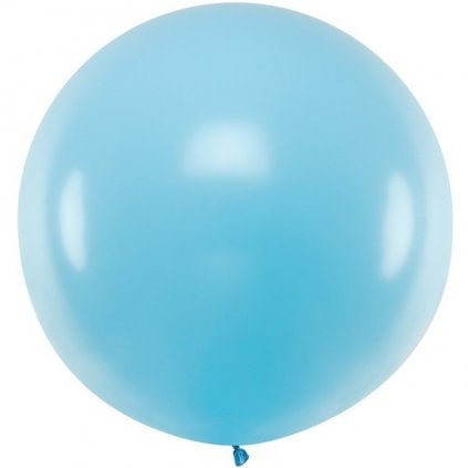 BALÓN 60cm pastelový světle modrý