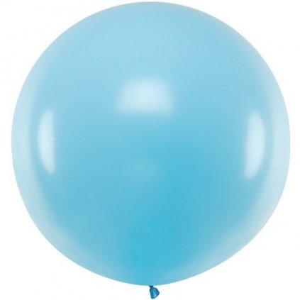 Balon latexový pastelový sv. modrý 60cm 1ks