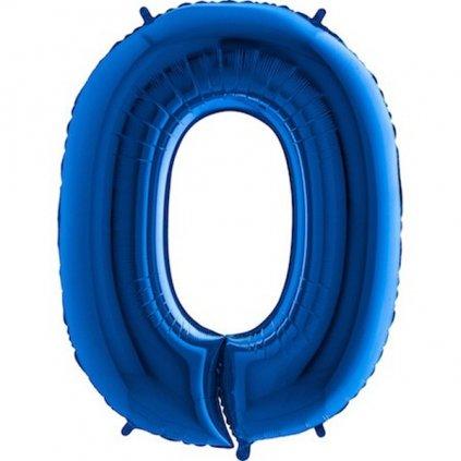 Balonek foliová číslice 0 modrá 105cm
