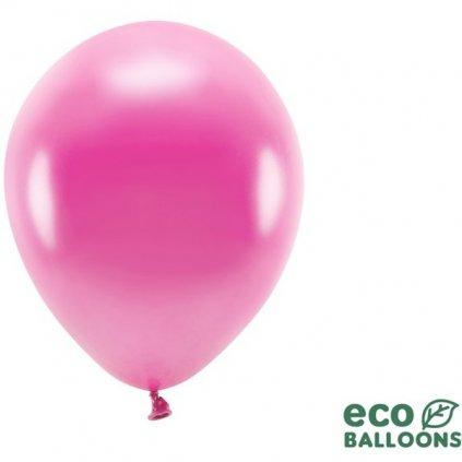 ECO balonky latexové metalické magenta 26cm 100ks