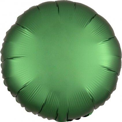 BALÓNEK fóliový Kruh smaragdový 43cm