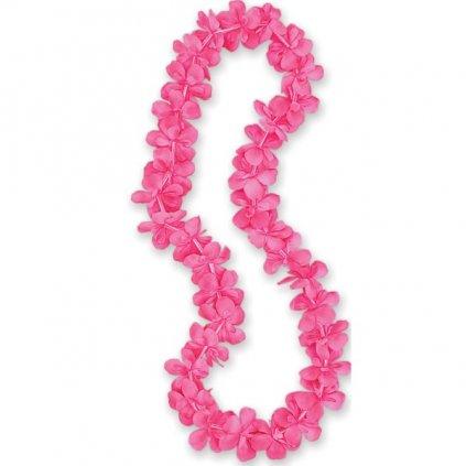 Havajský věnec růžové kvítky