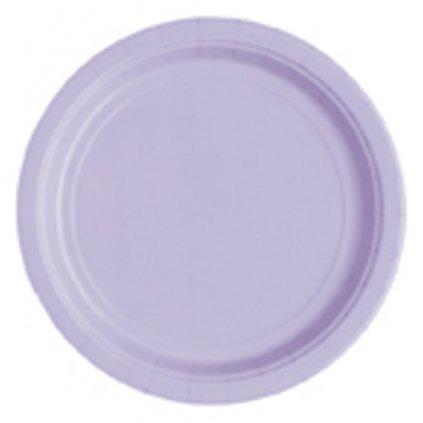 Talíře papírové Lavender kulaté 22cm 16ks