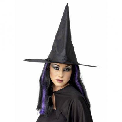KLOBOUK čarodějnický černý lesklý vyztužený 1ks