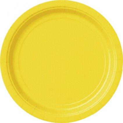 TALÍŘE papírové kulaté  Sunflower Yellow 16ks