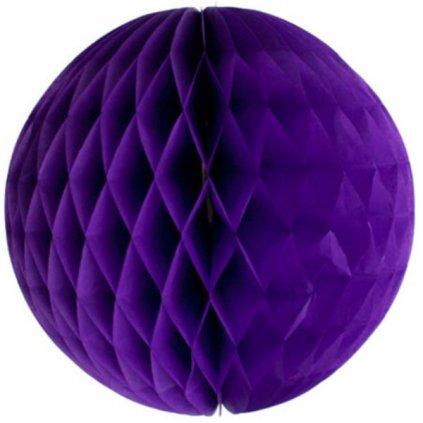 KOULE papírová dekorační fialová 40cm