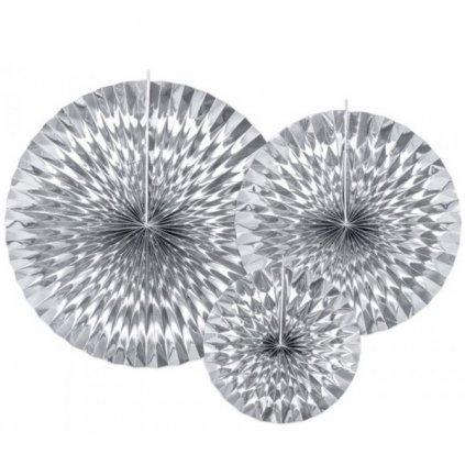 ROZETY dekorační stříbrné