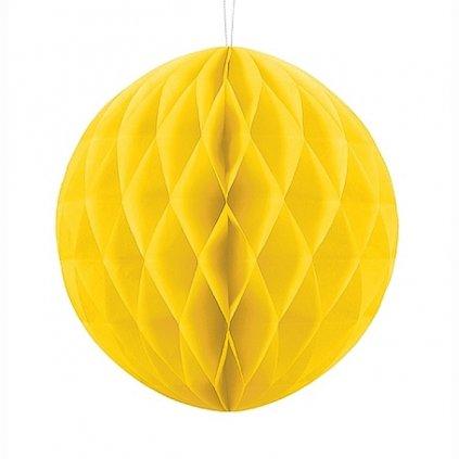 KOULE papírová dekorační žlutá 20cm