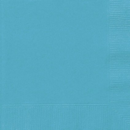 Ubrousky papírové karibsky modré 33x33cm 50ks