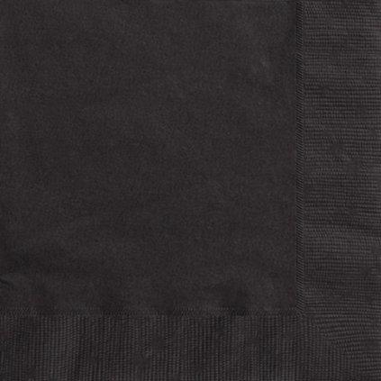 Ubrousky papírové černé 33x33cm 20ks