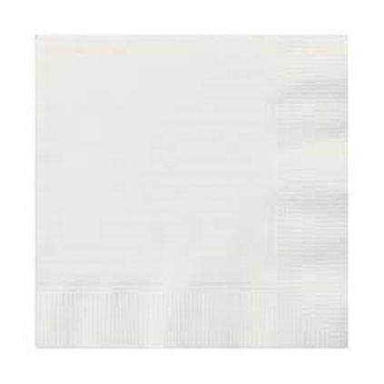 Ubrousky papírové banketové bílé 24,5x24,5cm 20ks